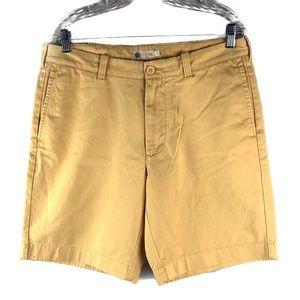 "J. Crew Factory Yellow 9"" Gramercy Shorts"